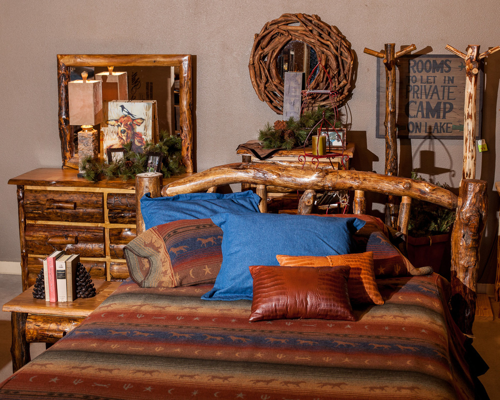 Log Bedroom set made in Idaho
